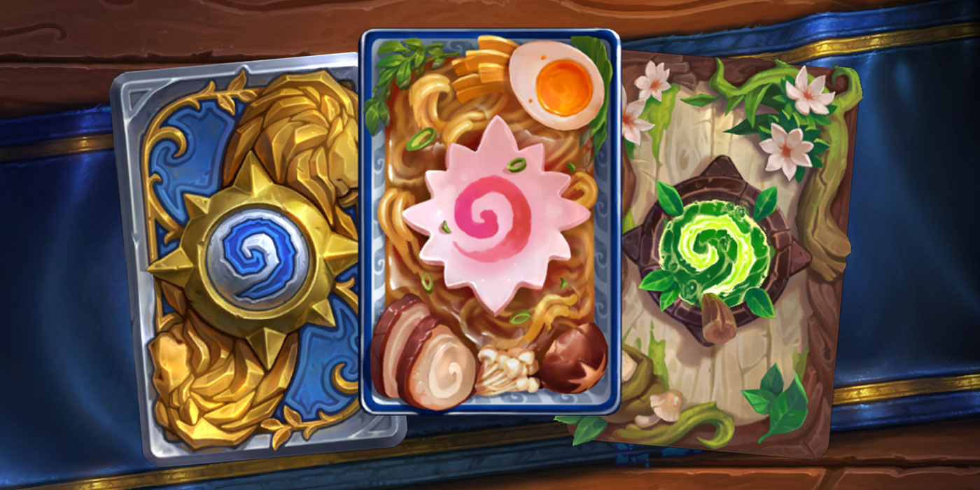 United in Stormwind Adds Four New Card Backs to the Game Including a Delicious Bowl of Ramen for September