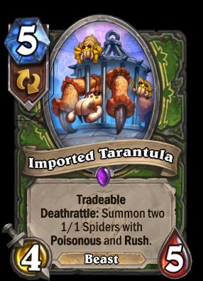 Imported Tarantula Card Image