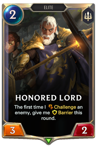 Honored Lord Card Image
