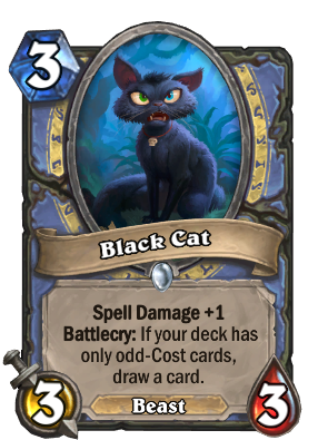 Black Cat Card Image
