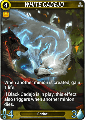 White Cadejo Card Image