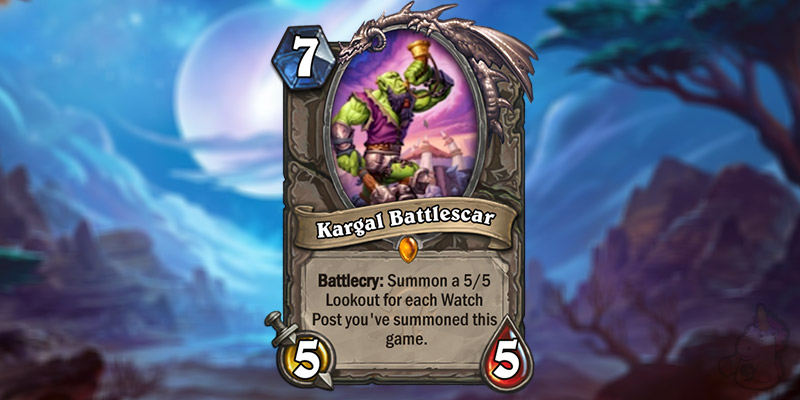 Eduquesa Reveals a New Forged in the Barrens Card - Kargal Battlescar