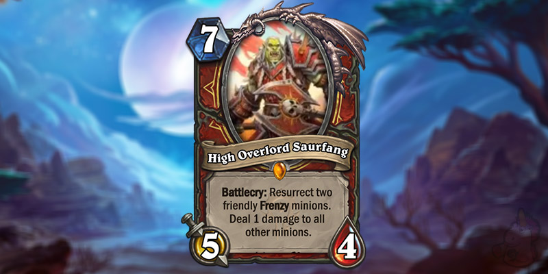 LvGe Reveals a New Forged in the Barrens Legendary Warrior Card - Overlord Saurfang