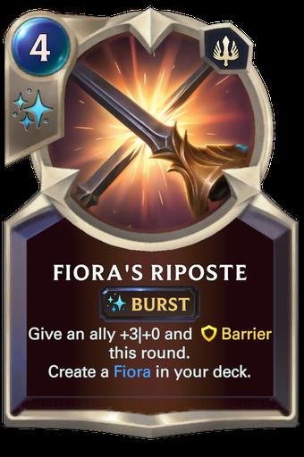 Fiora's Riposte Card Image