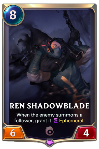 Ren Shadowblade Card Image