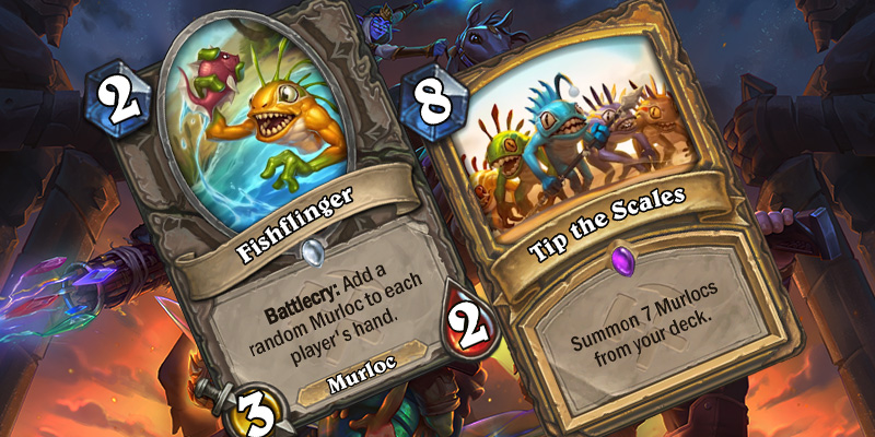Two Uldum Cards Revealed - Fishflinger & Tip the Scales