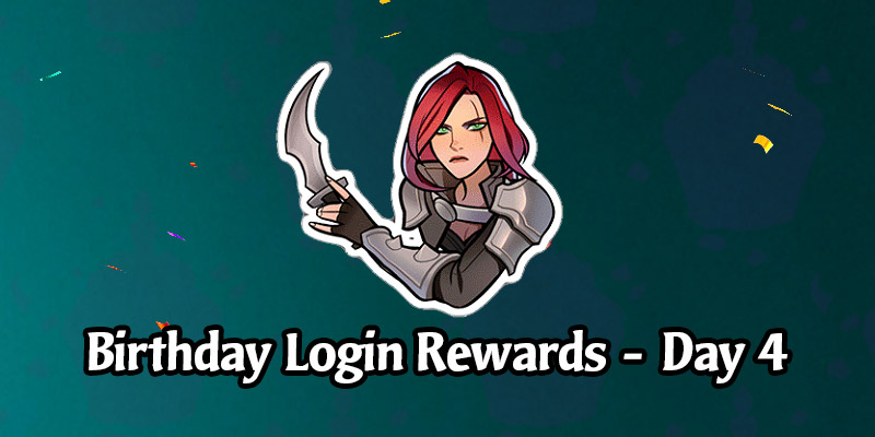 Today's Legends of Runeterra Anniversary Celebration Login Gift is a Katarina Emote