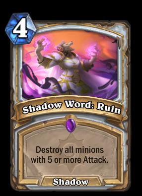 Shadow Word: Ruin Card Image