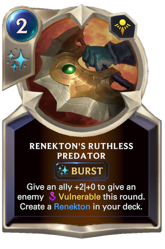 Renekton's Ruthless Predator Card Image