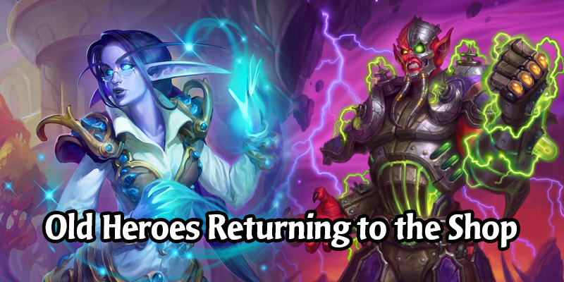 Older Hearthstone Heroes Are Returning to the Shop, Much Like Old Card Backs