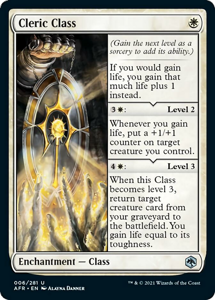 Cleric Class Card Image