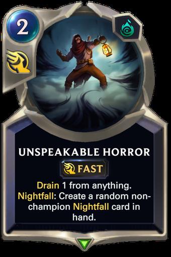Unspeakable Horror Card Image