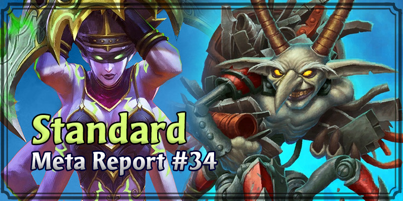 Standard Meta Report #34 - Top Hearthstone Decks May 10, 2020 - May 17, 2020