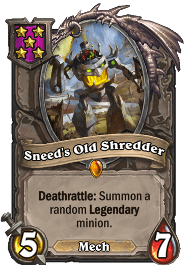 Sneed's Old Shredder Card Image