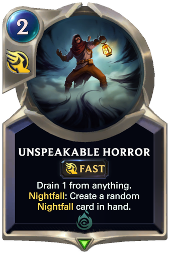 Unspeakable Horror Card Image