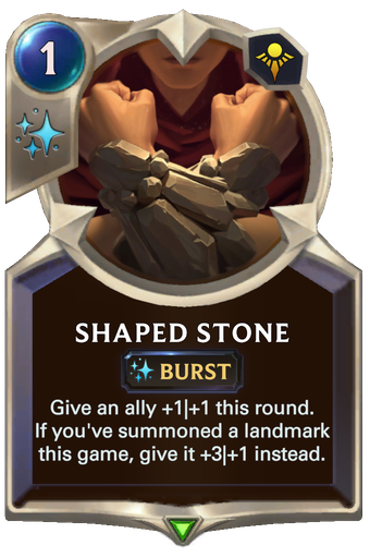 Shaped Stone Card Image