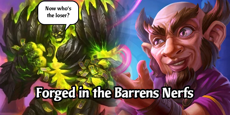 Hearthstone's Pen Flinger Can No Longer Attack Face, Watch Posts Nerfed, and More! Forged in the Barrens Nerfs Arrive Tomorrow
