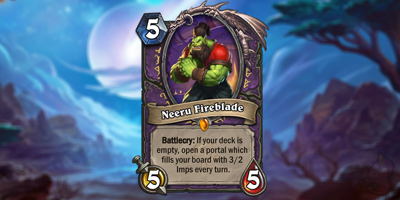 YiLingShu Reveals a New Forged in the Barrens Legendary Warlock Card - Neeru Fireblade