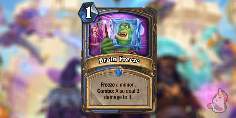 Brain Freeze is a New Mage & Rogue Card Revealed for Hearthstone's Scholomance Academy Expansion