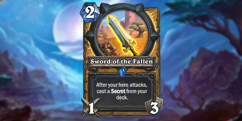 Antony Giusto Reveals a New Forged in the Barrens Paladin Card - Sword of the Fallen
