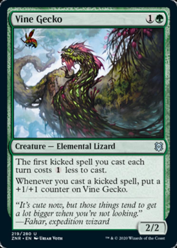 Vine Gecko Card Image