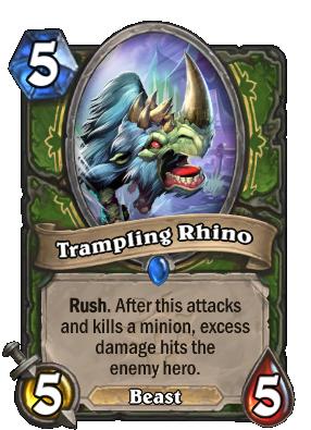 Trampling Rhino Card Image