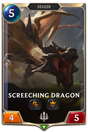 Screeching Dragon Card Image