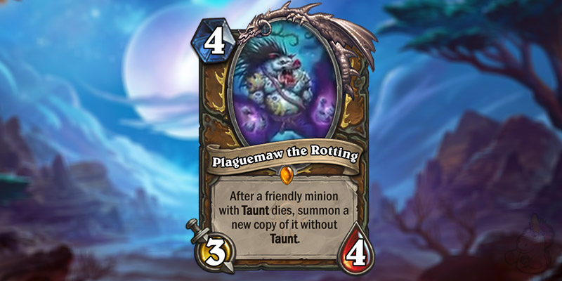 Blizzard Reveals Two New Forged in the Barrens Druid Cards - Plaguemaw the Rotting & Razormane Battleguard
