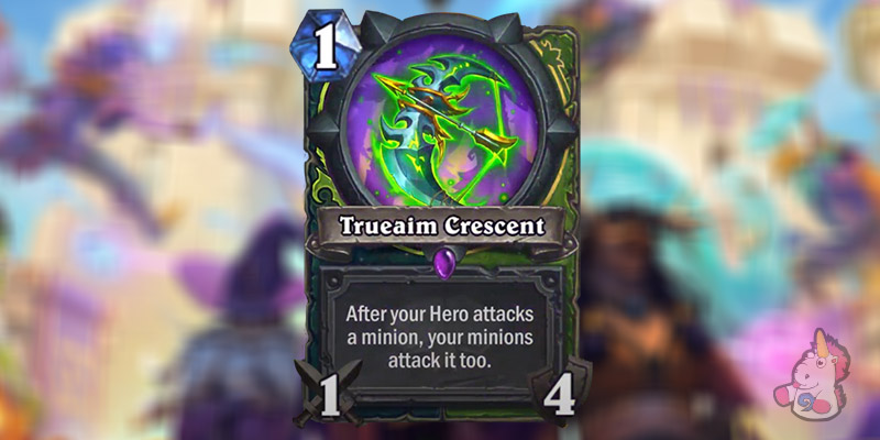 Trueaim Crescent is a New Demon Hunter & Hunter Weapon Revealed for Hearthstone's Scholomance Academy Expansion