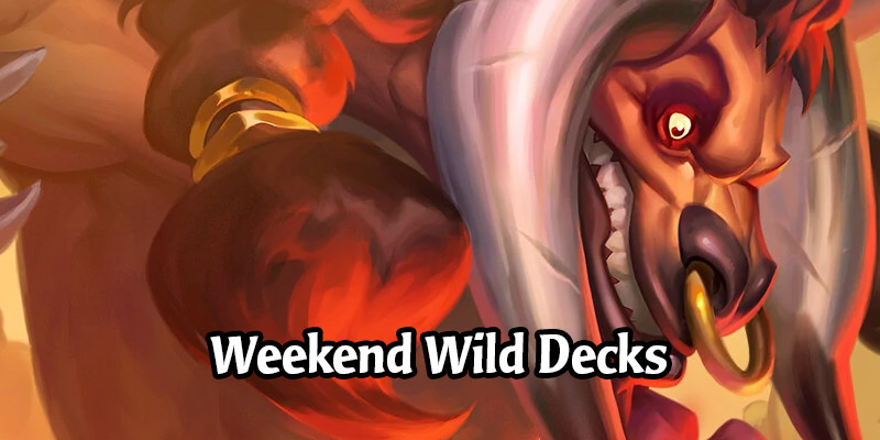 Weekend Wild Hearthstone Decks - OTK Warrior, Big Spell Mage, Even Shaman, and More!