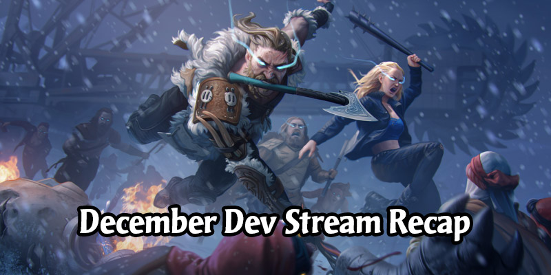 Mythgard December Dev Stream Recap - Card Balance, Holiday Event, Full Patch Notes