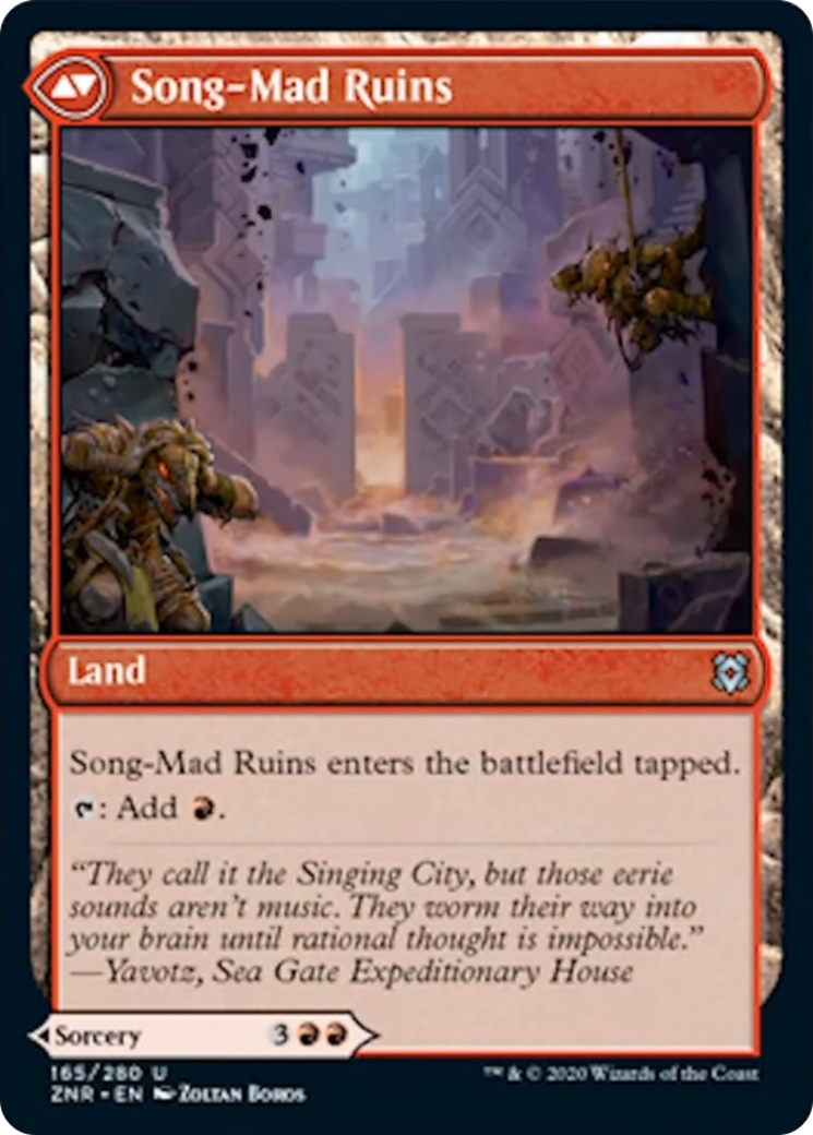 Song-Mad Treachery // Song-Mad Ruins Card Image
