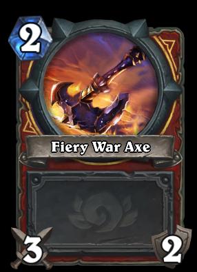Fiery War Axe Card Image
