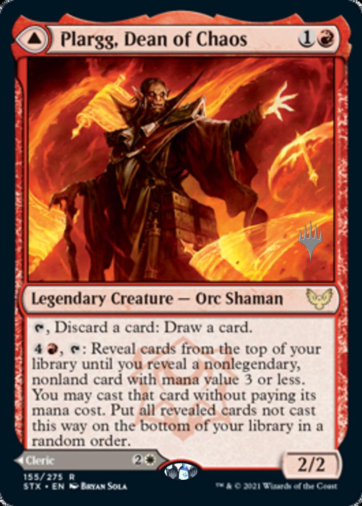 Plargg, Dean of Chaos // Augusta, Dean of Order Card Image