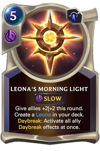 Leona's Morning Light Card Image