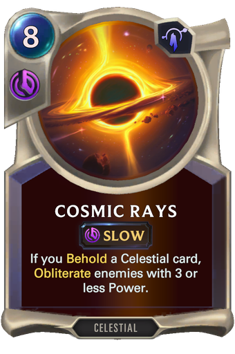 Cosmic Rays Card Image