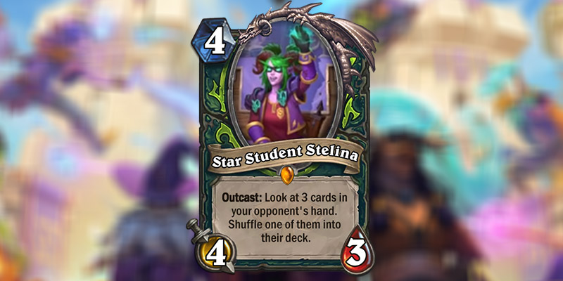 Star Student Stelina is a New Demon Hunter Legendary Revealed for Hearthstone's Scholomance Academy Expansion