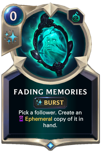 Fading Memories Card Image