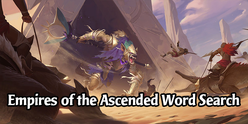 Empires of the Ascended Word Search Activity - Earn Shuriman Securi!