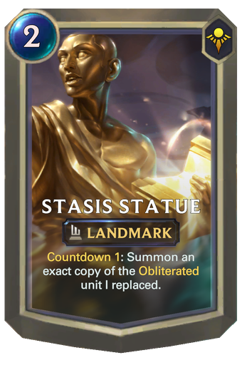 Stasis Statue Card Image