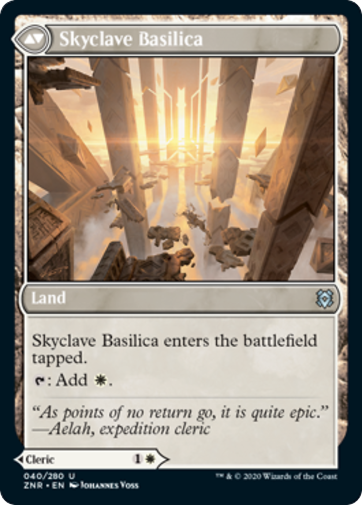 Skyclave Cleric // Skyclave Basilica Card Image