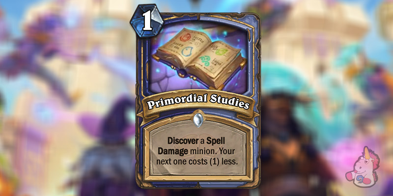 Primordial Studies is a New Shaman & Mage Card Revealed for Hearthstone's Scholomance Academy Expansion