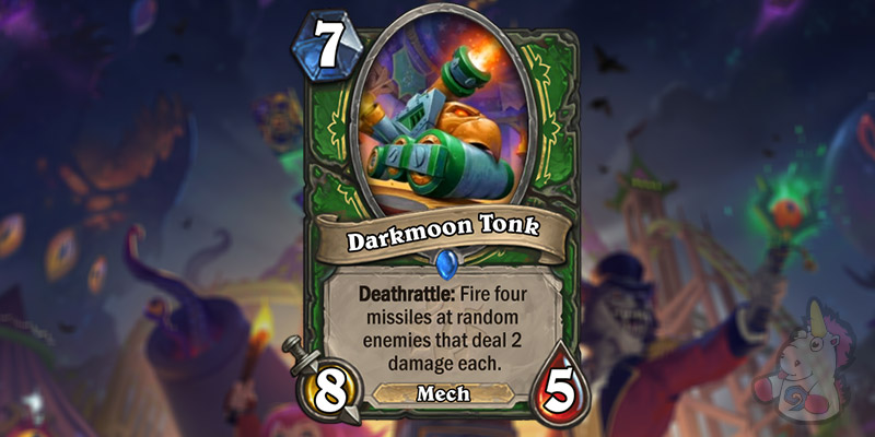 Two Hunter Cards Revealed for Hearthstone's Darkmoon Faire Expansion - Darkmoon Tonk & Maxima Blastenheimer