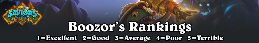 SoU Boozor's Rankings