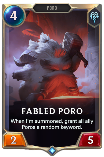 Fabled Poro Card Image