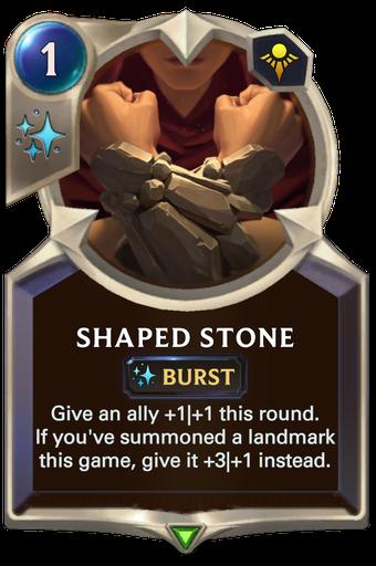 Shaped Stone Card Image