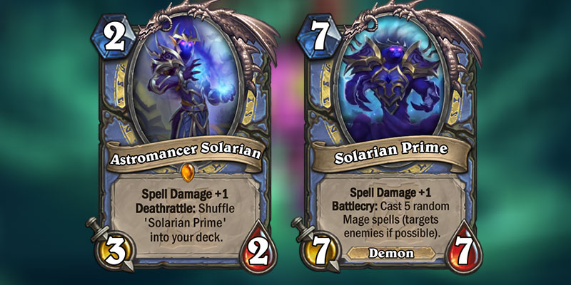 Astromancer Solarian is a new Mage Legendary Revealed for Hearthstone's Ashes of Outland Expansion