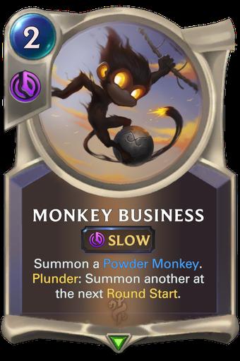 Monkey Business Card Image
