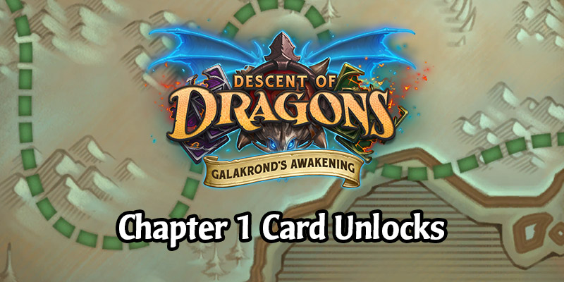 The Galakrond's Awakening Hearthstone Adventure Week 1 Cards - Battle of the Frozen Coast