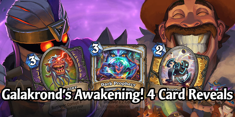 4 New Cards Revealed from Hearthstone's New Galakrond's Awakening Solo Content - Launches January 21